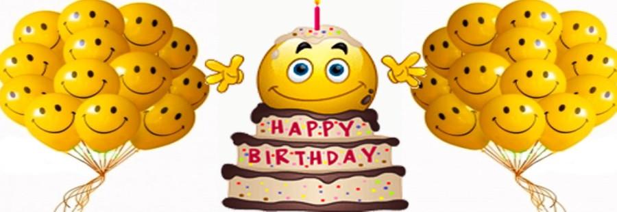 Оригинальное поздравление со смайликами с днем рождения