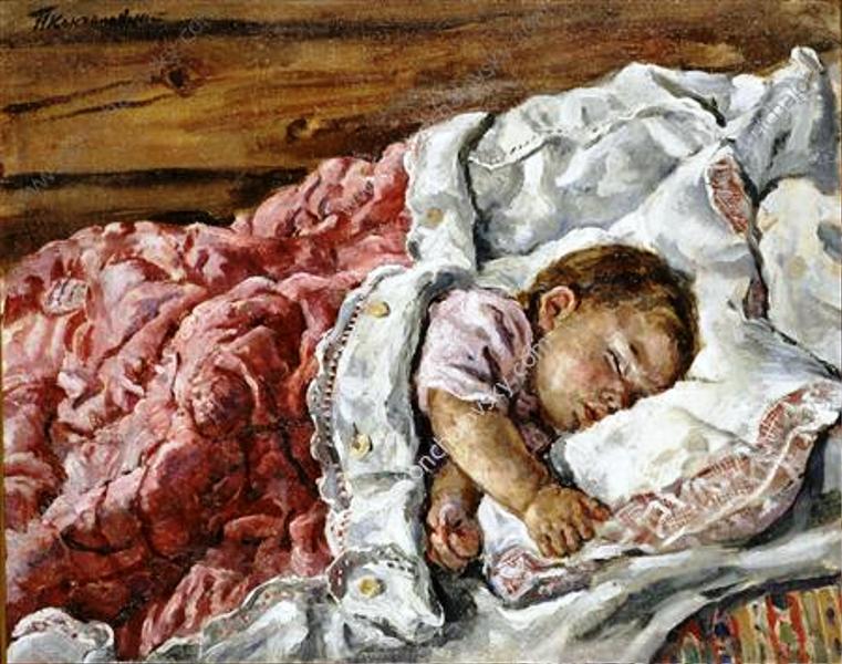 Катенька спящая на левом боку Кончаловский Петр Петрович