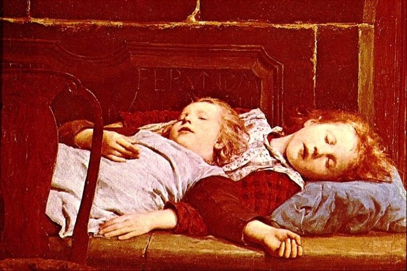 спящие дети Альберт Анкер