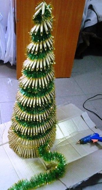 Фото елки из макарон своими руками