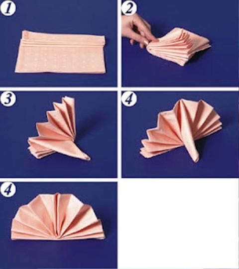 Салфетки для сервировки стола своими руками бумажные