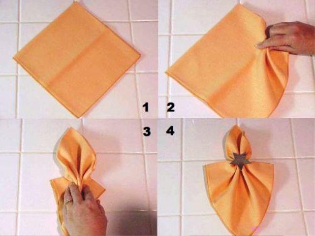 Как сделать салфетки на стол бумажные