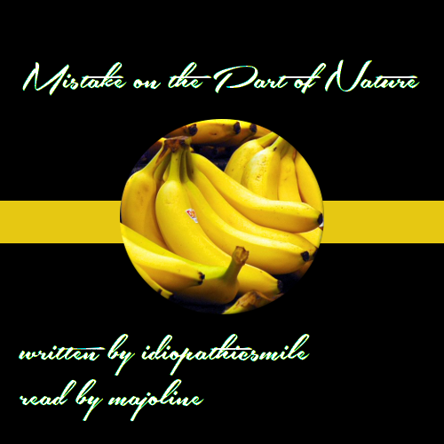 Cover Art: black background with a small yellow stripe in the middle and a circluar picture of a bunch of bananas