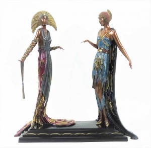 Rare Erte Bronze Statue Sculpture Two Vamps-эстимэйт 2-4000 дол..jpg