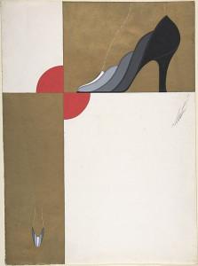 Дизайн женских туфель с эффектом омбре от белого к черному для торговой марки Делман.jpg
