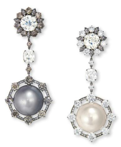 Wallace Chan_pearl earrings