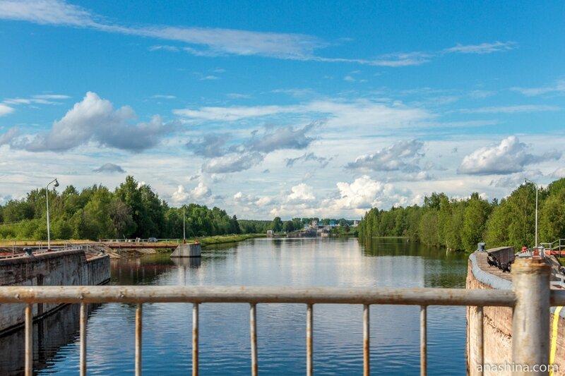 Панорама в сторону шлюза №3 Беломорско-Балтийского канала