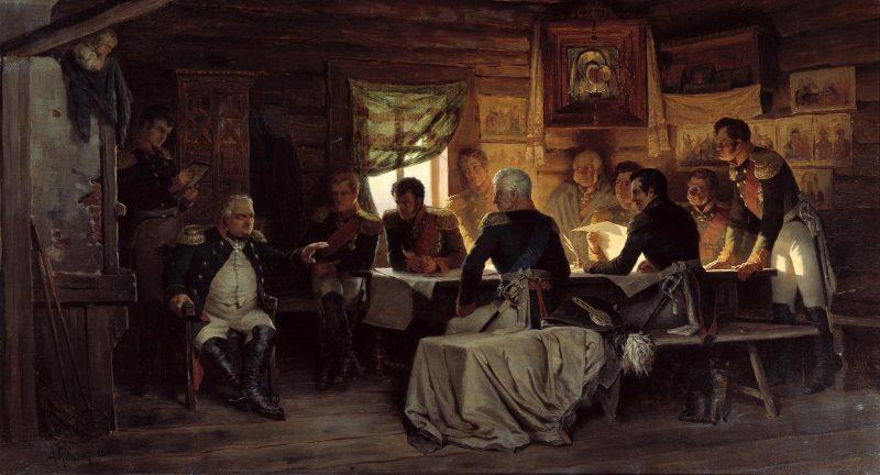 «Военный совет в Филях». А.Д.Кившенко, 1880 год
