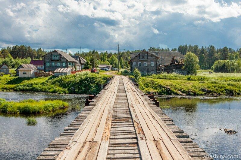 Традиционные жилые дома в Пяльме, Республика Карелия