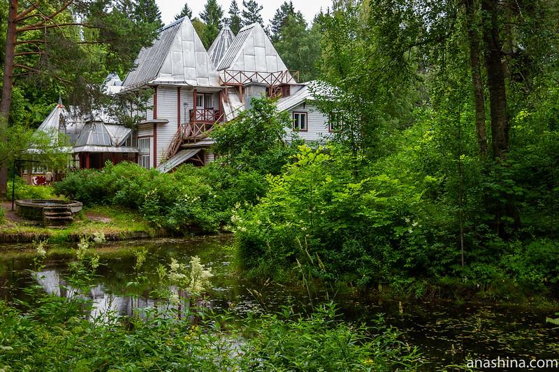 Дом и пруд