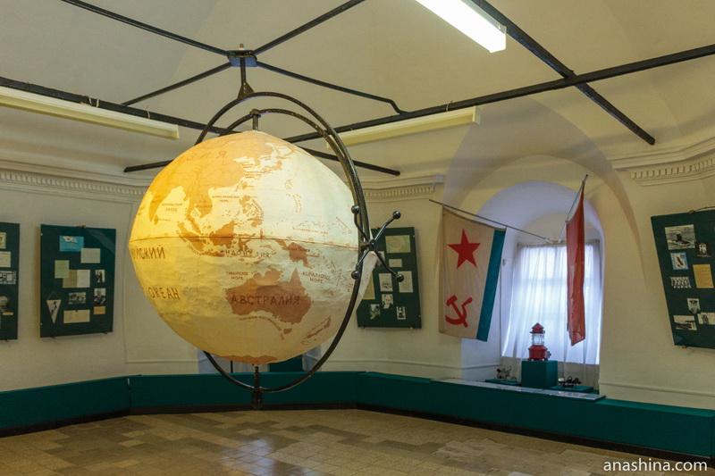 Экспозиция одного из залов Музея мореходов