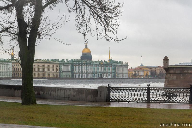 Вид в сторону Дворцовой набережной