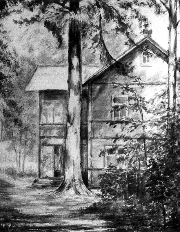 Дом Чуковских в Куоккале. Рисунок В.Н.Бокариуса