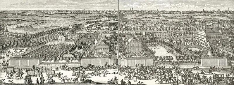 Генрих Де Витт (1671-1716) или Шхонебек с учениками. Усадьба Ф.А.Головина и Немецкая слобода. 1704 год