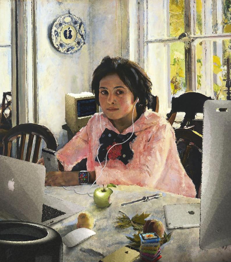 Картинки людей с персиками