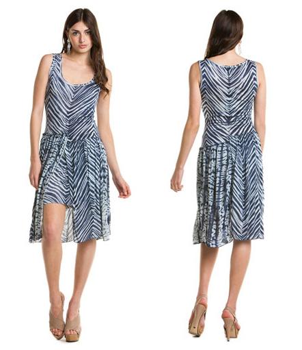 Пристрой BCBGMAXAZRIA Andria Dark Ink Combo Print Overlay Dress 1