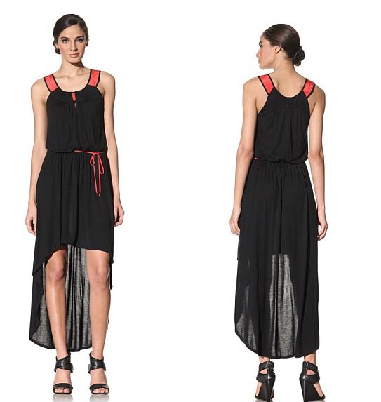 Пристрой Color block  maxi dress1