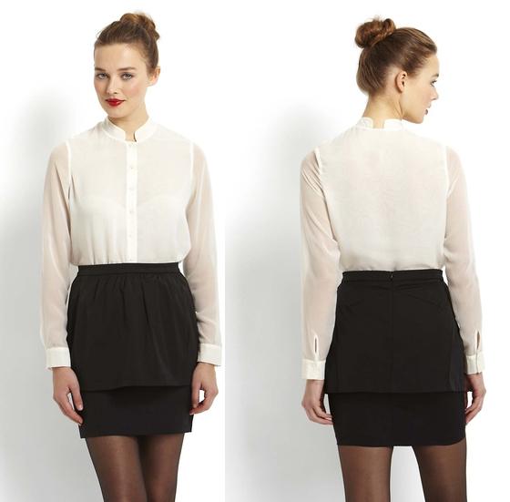 LOVE...ADY Ottoman Peplum Skirt $14