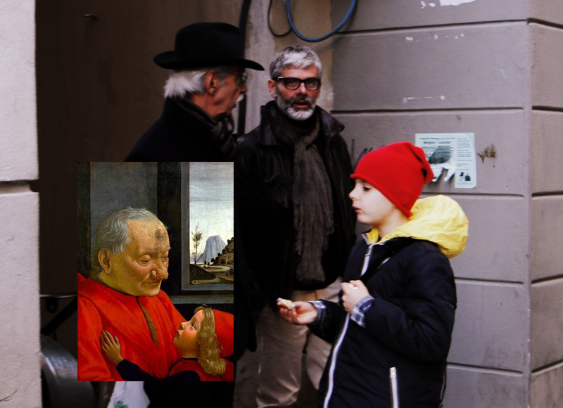 внук и дедушка