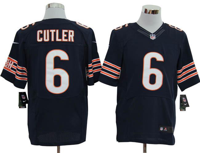 Chicago Bears 6 Cutler blue Elite Jerseys