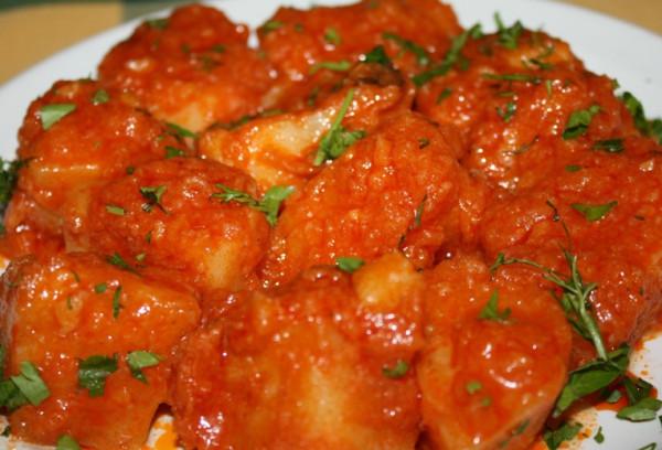 тушеный картофель с мясом рецепт с фото