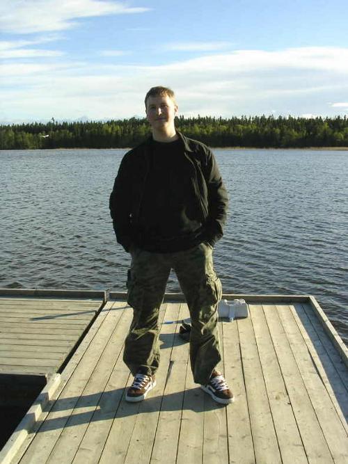 Me, on Little Lake, where we filmed MARIANNE