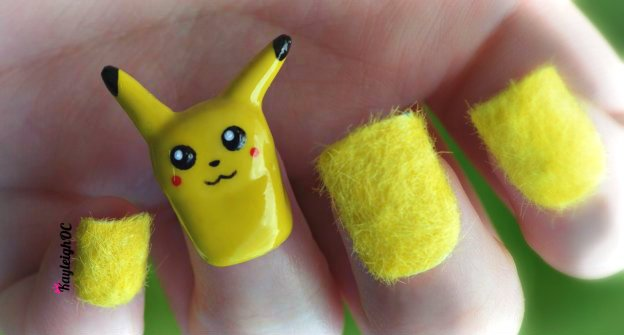 3d_pikachu_nail_art_by_kayleighoc-d5grc0g