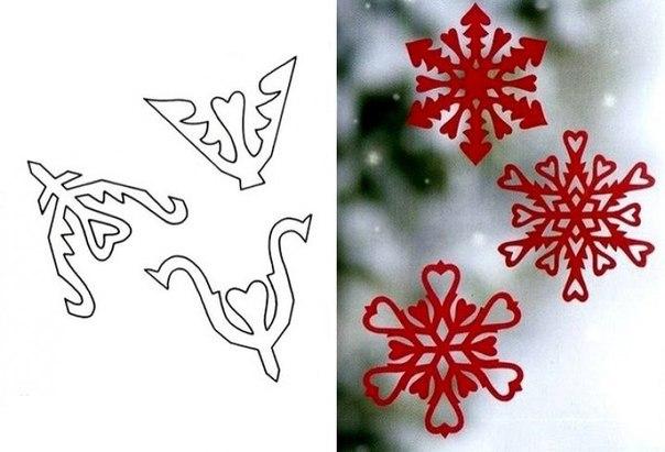 Трафарет снежинки своими руками на новый год