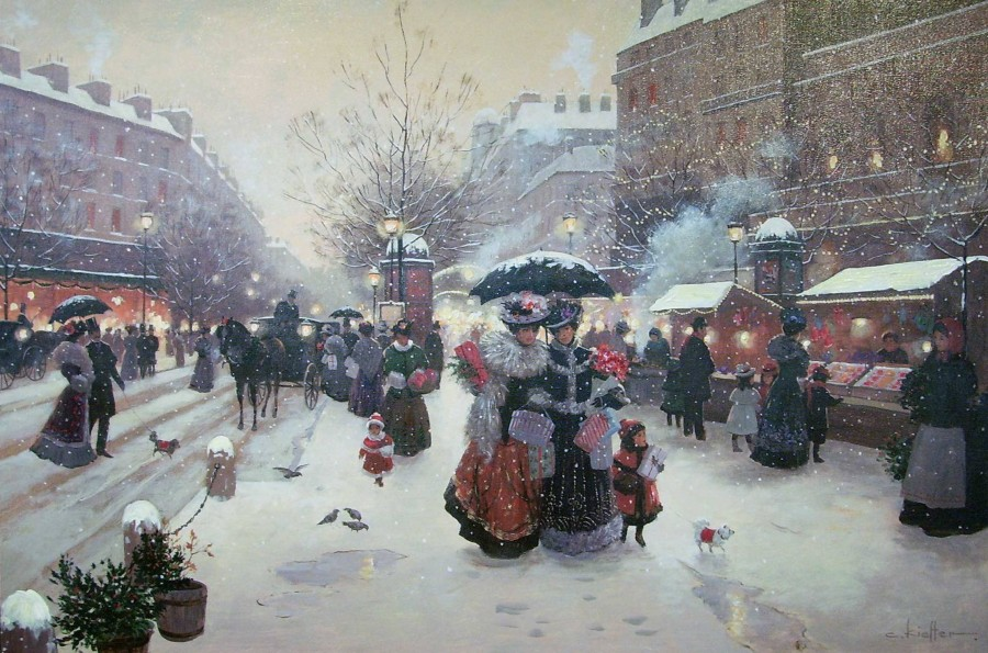 рождество в Париже.