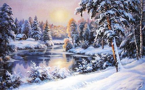 зимний день в лесу.