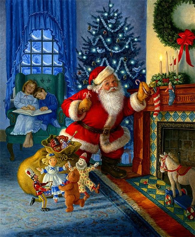 новогодняя ночь с дедом Морозом.