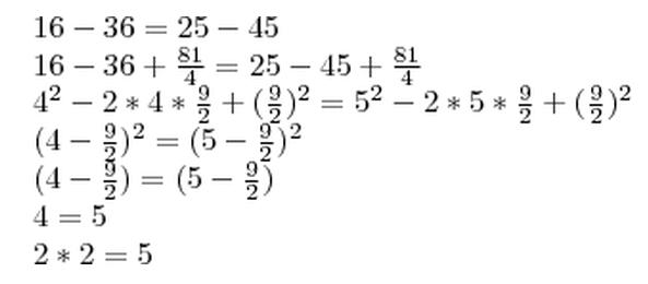 математический софизм 2+2=5