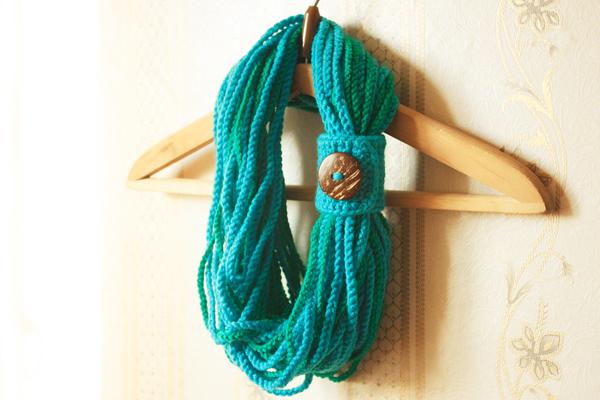 Как сделать шарф из крючка