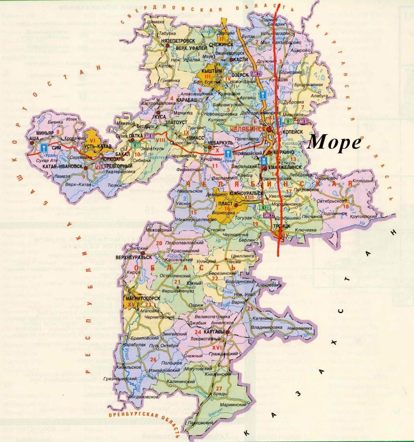 Море Че области