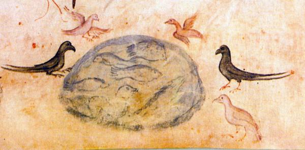 Иллюстрация из Киевской Псалтири.  1397 г.