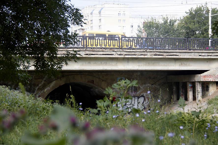 Державинский мост в Тамбове. Фото 16 июля 2012 г .