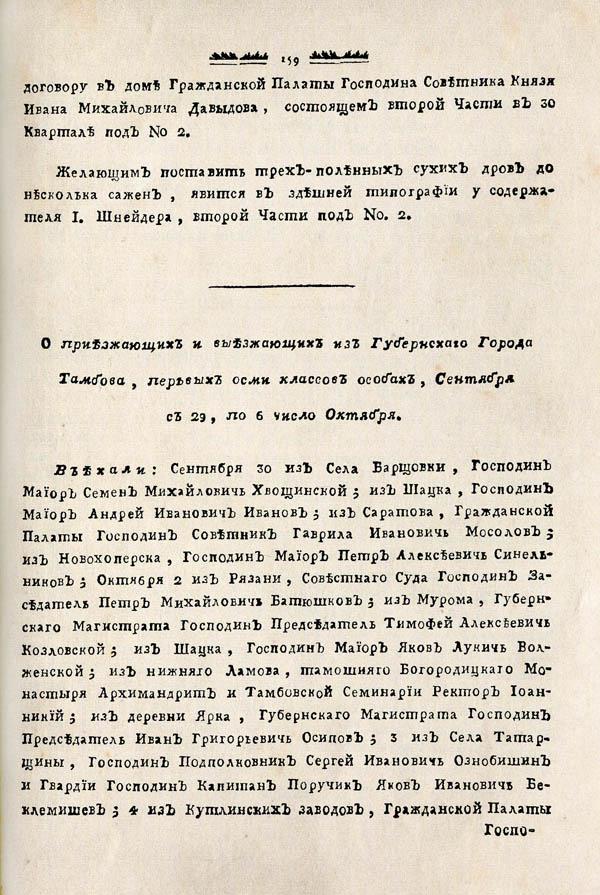 Тамбовские известия,  1788. №40 3