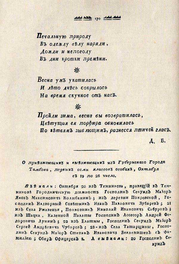 Тамбовские известия,  1788. №43 2