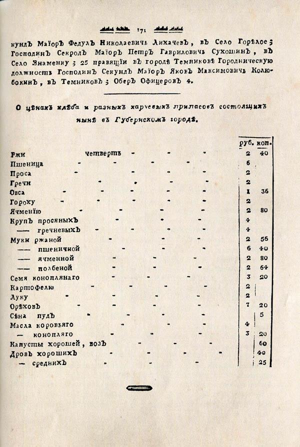 Тамбовские известия,  1788. №43 3