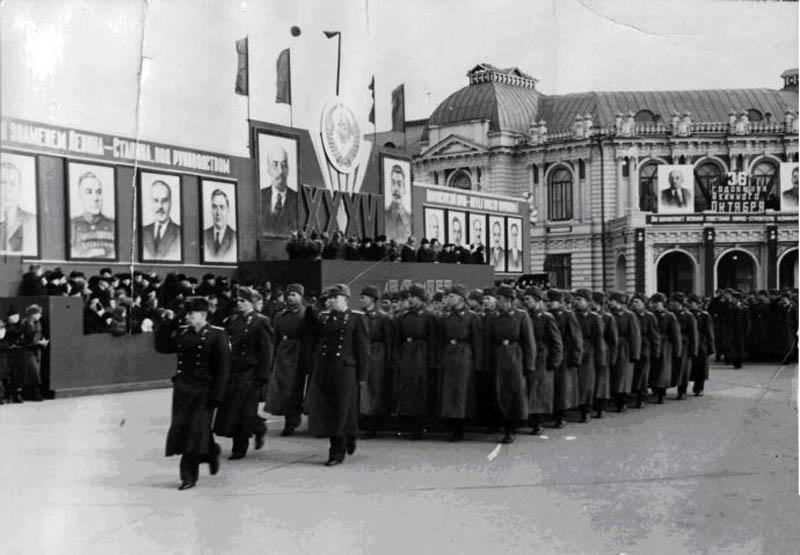Тамбов. Демонстрация трудящихся. Фото начала 1950-х гг.