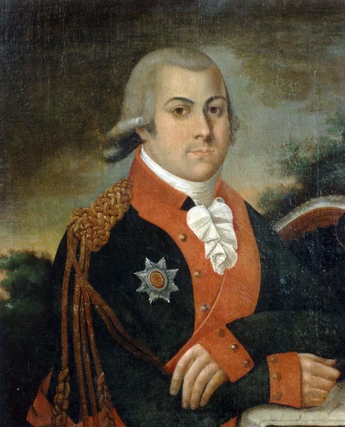 1Неизвестный художник. Портрет А.А. Боратынского - отца поэта. Копия начала 1800-х гг. с оригинала 1798 г.