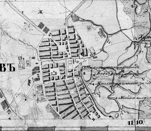 План Тамбова около 1850 г.