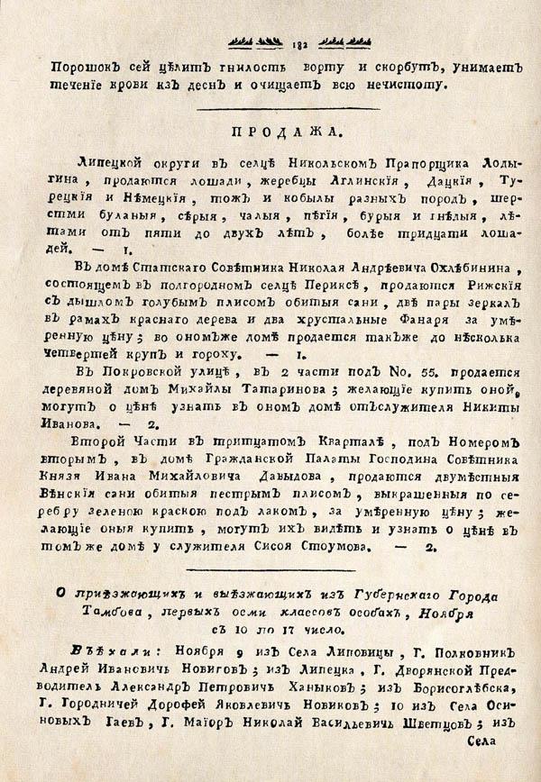 Тамбовские известия,  1788. №46 2