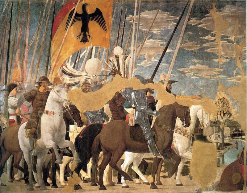 Пьеро делла Франческа. Битва императора Константина с Максенцием. Ареццо, церковь Сан Франческо