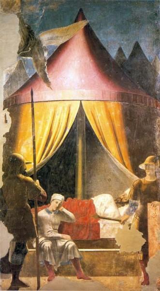 Пьеро делла Франческа. Сновидение императора Константина. Ареццо, церковь Сан Франческо