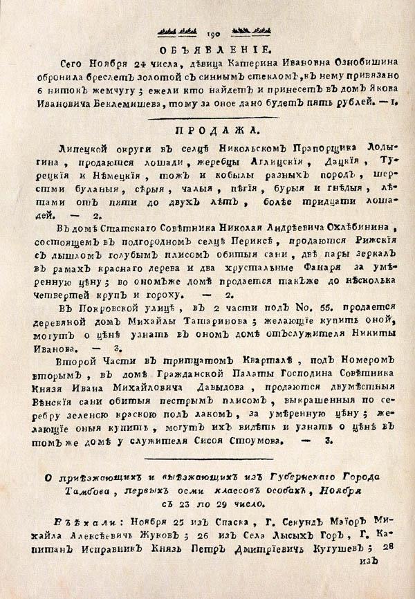 Тамбовские известия,  1788. №48 2