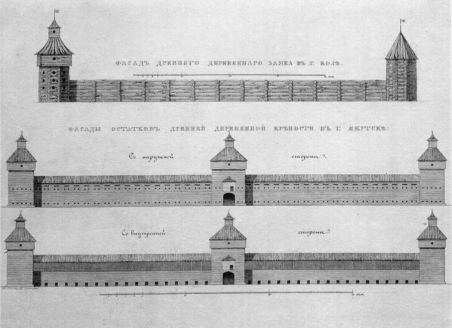 Деревянные крепостные стены 17 века