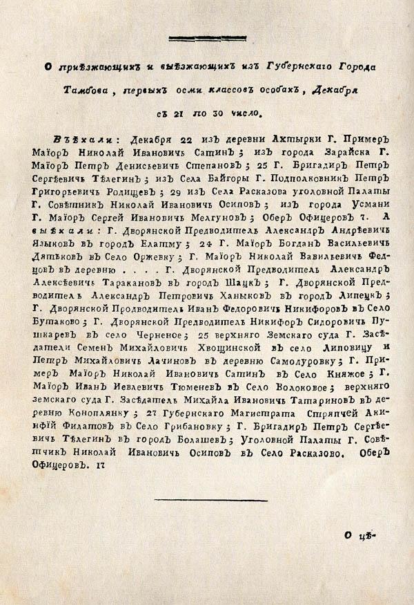 Тамбовские известия,  1788. №52 6