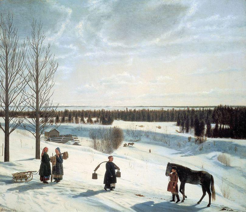 Н.С. Крылов.Русская зима. 1827. ГРМ