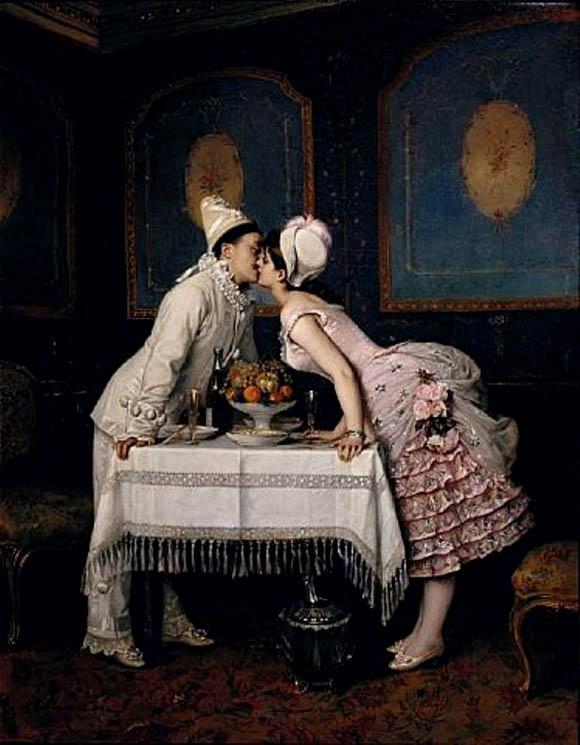К.А. Сомов. Поцелуй. 1904